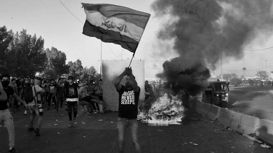 Irak barricadas en las calles la-tinta