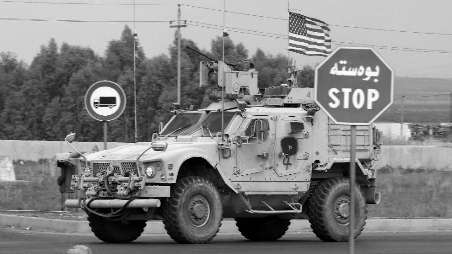 Irak convoy estadounidense la-tinta