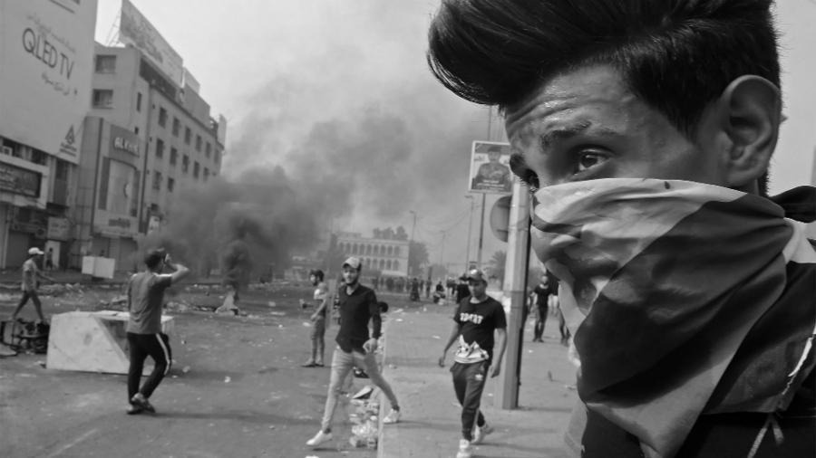 Irak manifestantes en las calles la-tinta