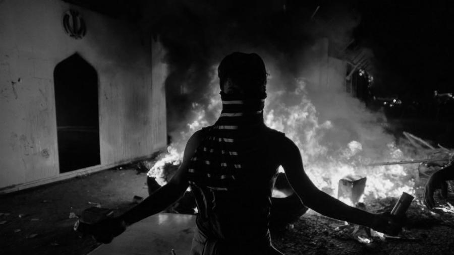 Irak protestas en consulado de Iran la-tinta