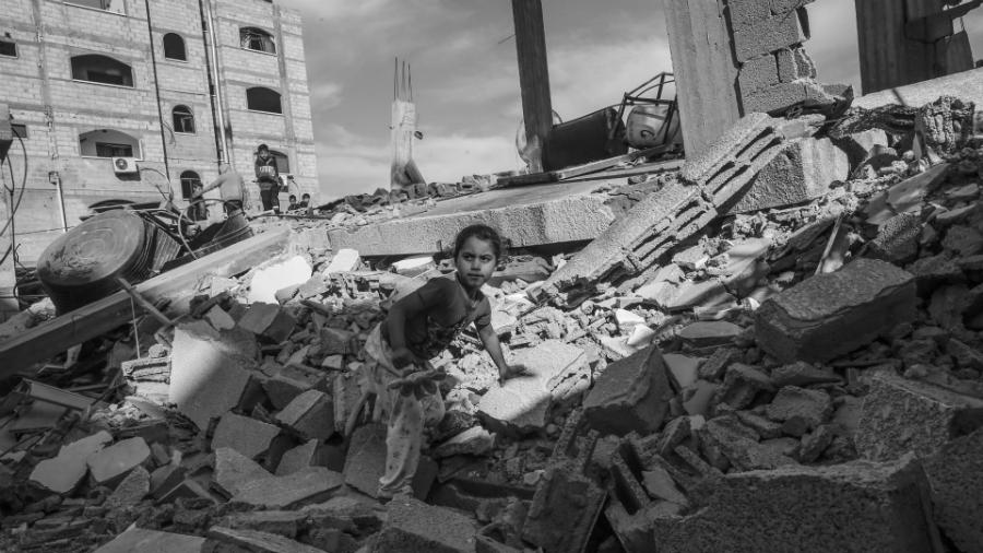 Palestina Gaza bombardeos niños la-tinta