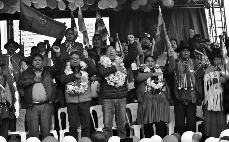 Bolivia campaña electoral del MAS la-tinta