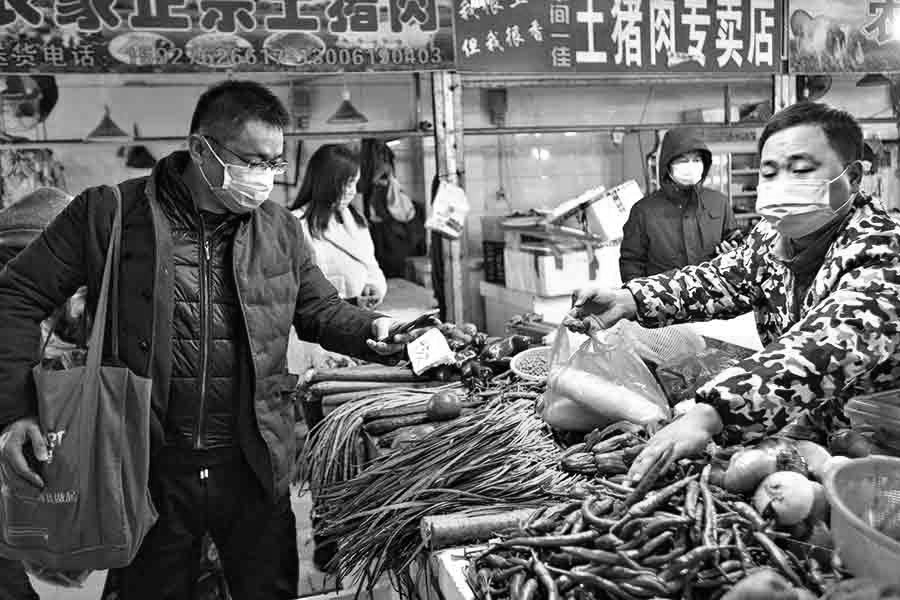 China provincia Wuhan mercado la-tinta