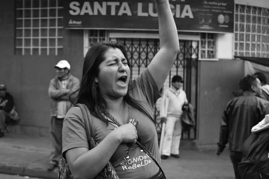 Bolivia 8M marcha la-tinta