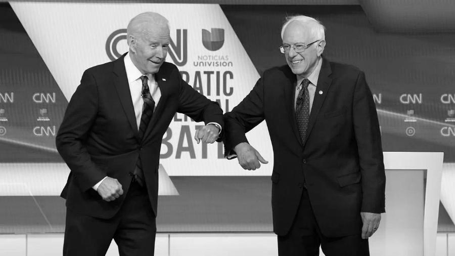 Estados Unidos Joe Biden Bernie Sander debate la-tinta