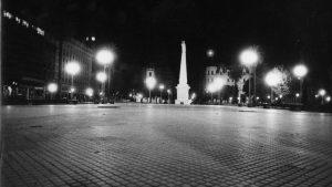 La plaza sin un alma