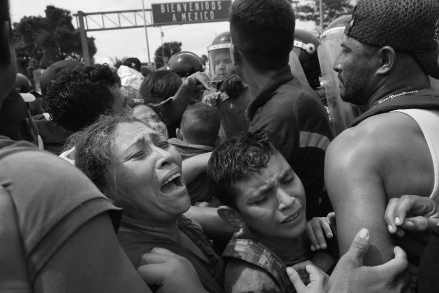 Mexico caravana migrante la-tinta