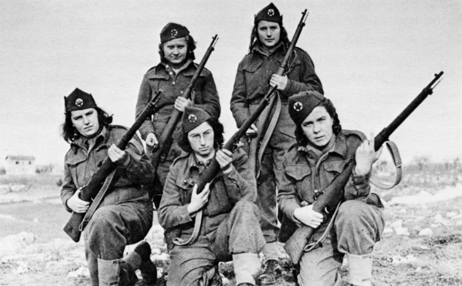 Yugoslavia partisanas antifascistas la-tinta