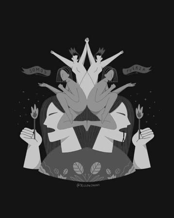poster-8m-abya-yala-feminismo-mujeres-ilustracion-jellowjanny-fuerza