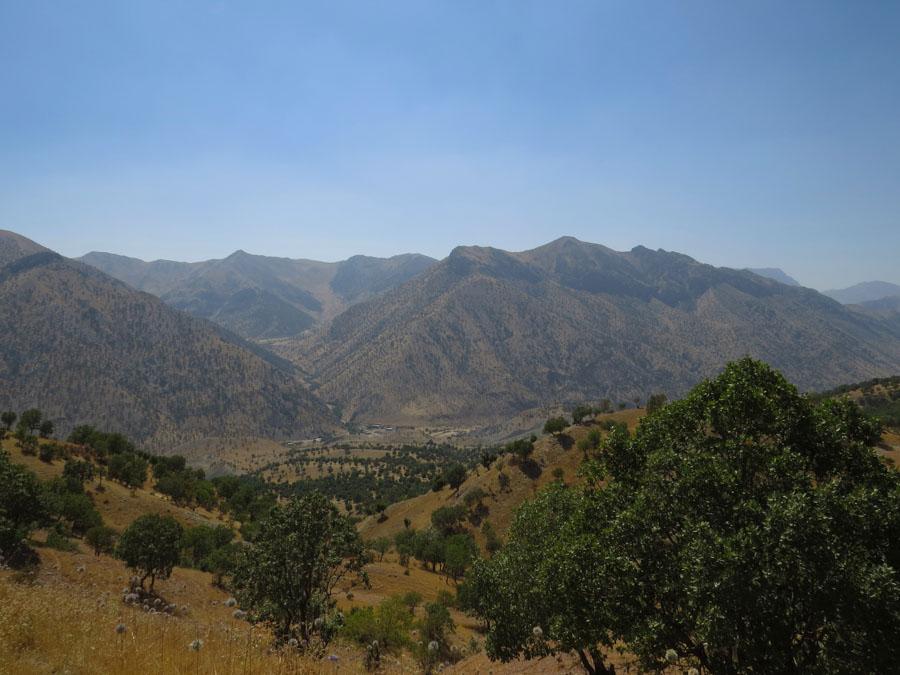 1 Kurdistán montañas de Qandil la-tinta
