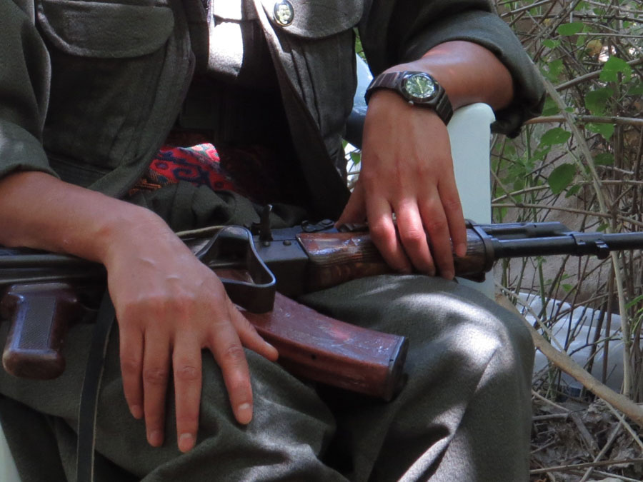 9 Kurdistán Qandil fusil la-tinta