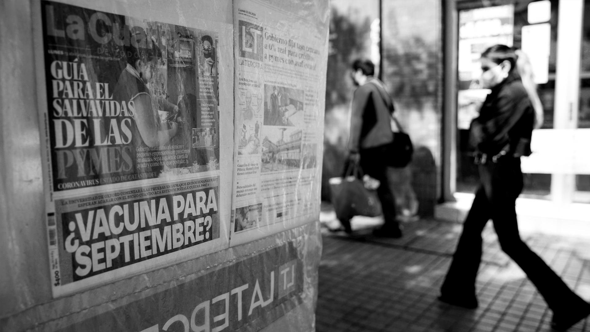 Chile coronavirus calle la-tinta