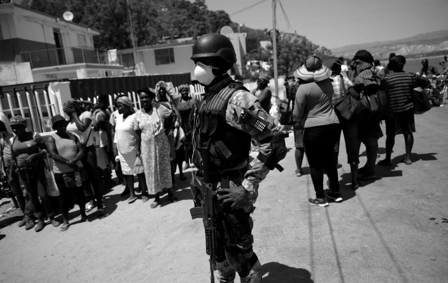 Haiti coronavirus fuerzas de seguridad la-tinta