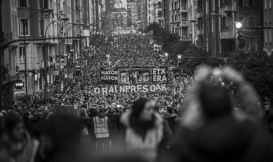 Pais Vasco movilizacion por presos politicos la-tinta