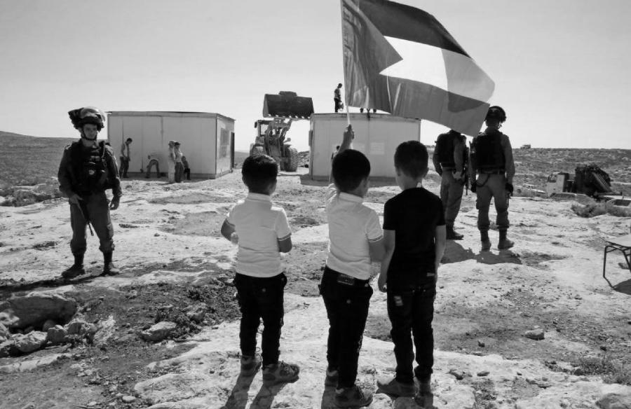 Palestina niños enfrentan al ejercito de Israel la-tinta