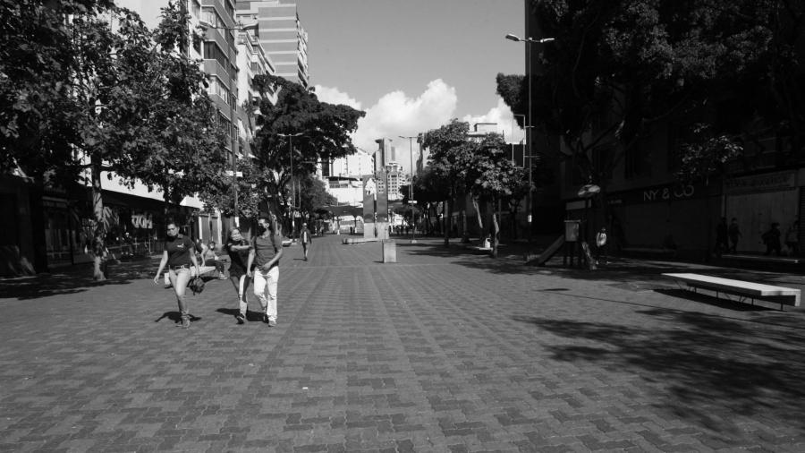 Venezuela Caracas centro cuarentena la-tinta