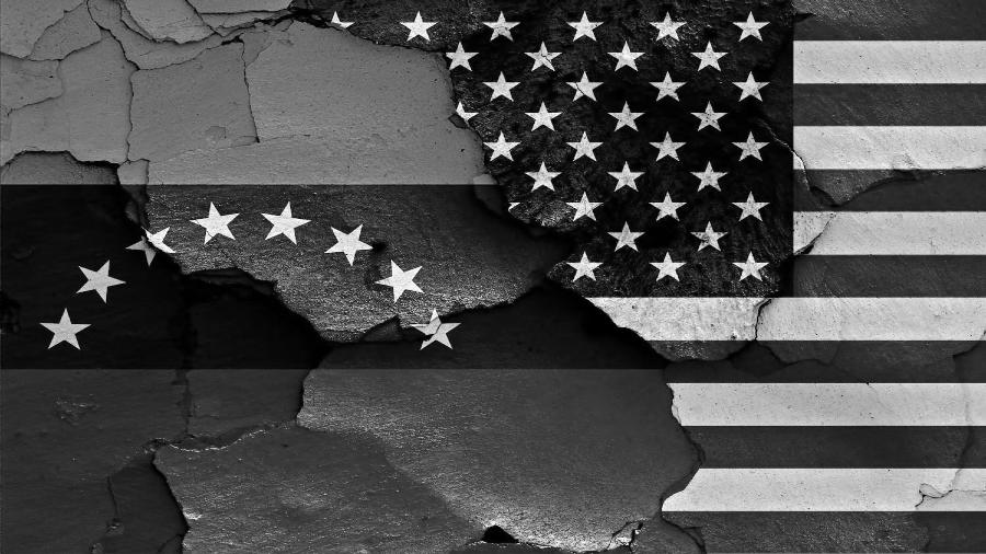 Venezuela Estados Unidos banderas la-tinta