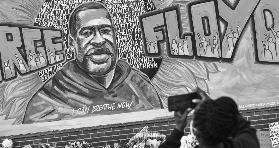 Estados Unidos George Floyd mural la-tinta