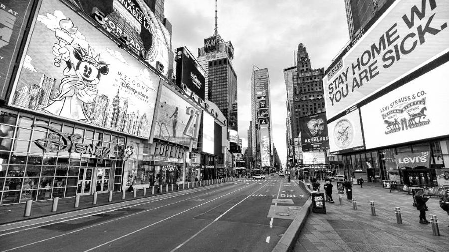 Estados Unidos Nueva York avenida pandemia la-tinta