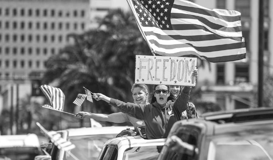 Estados Unidos marcha contra el confinamiento la-tinta