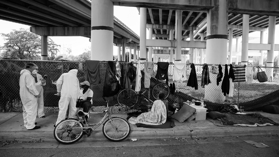 Estados Unidos personas sin hogar coronavirus la-tinta