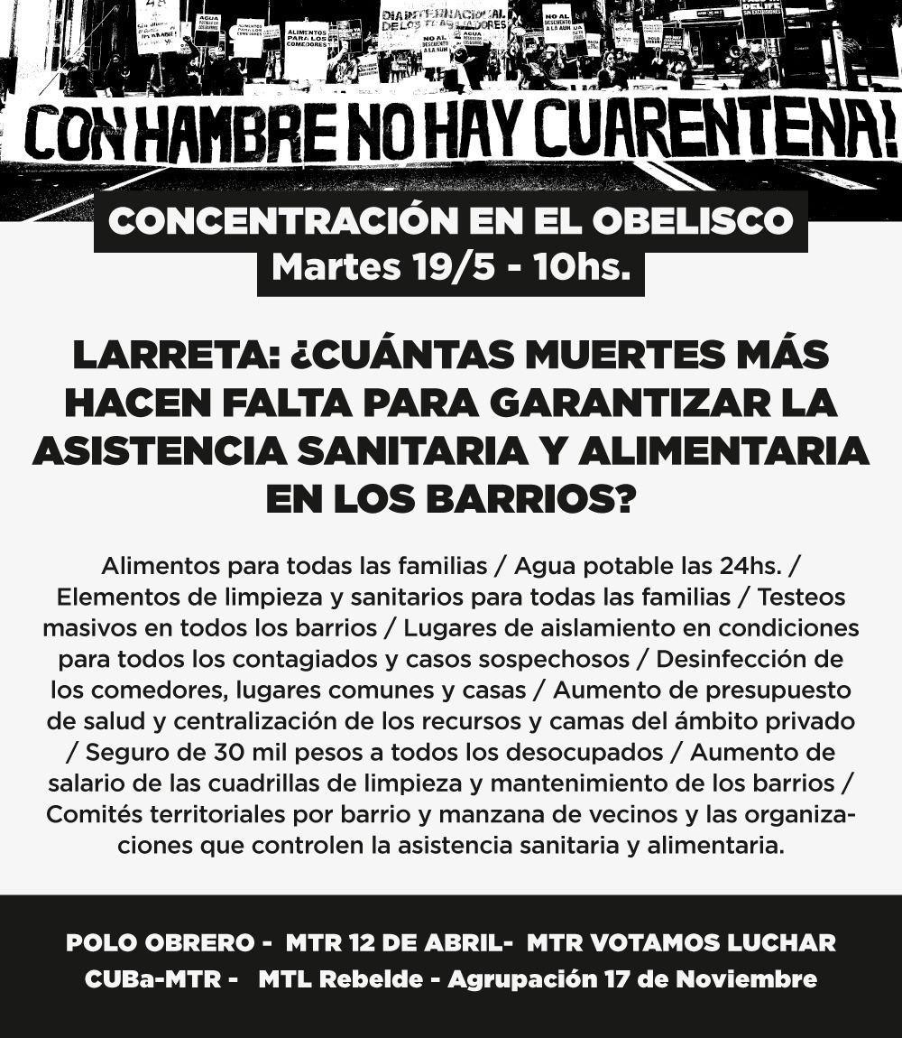 Flyer-organizaciones-sociales-protesta-alimentos-trabajo-crisis-sanitaria