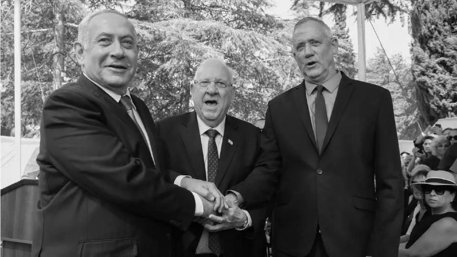 Israel Netanyahu Benny Gantz la-tinta