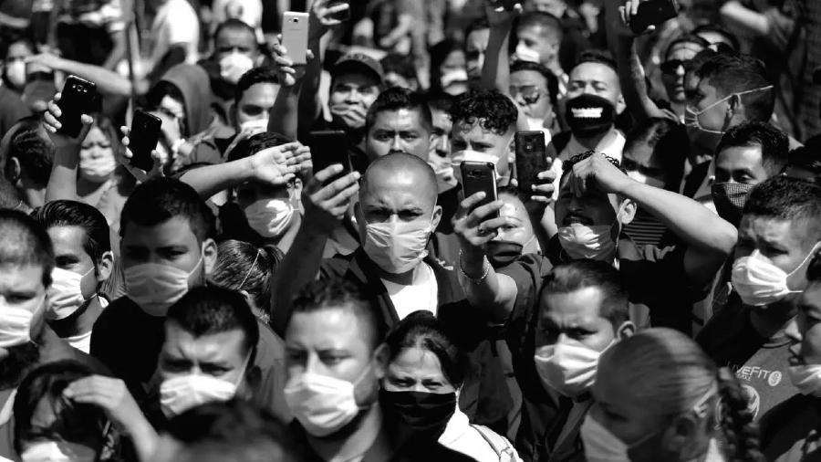 Mexico Ciudad Juarez protesta trabajadores la-tinta