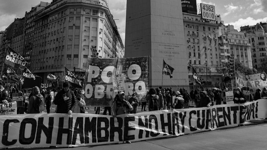 organizaciones-sociales-protesta-alimentos-trabajo-crisis-sanitaria
