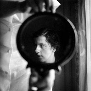 En el espejo del baño