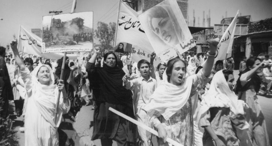 Afganistan Rawa organizacion marcha la-tinta