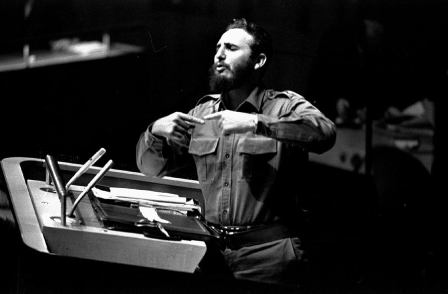 Cuba Fidel Castro en la ONU la-tinta