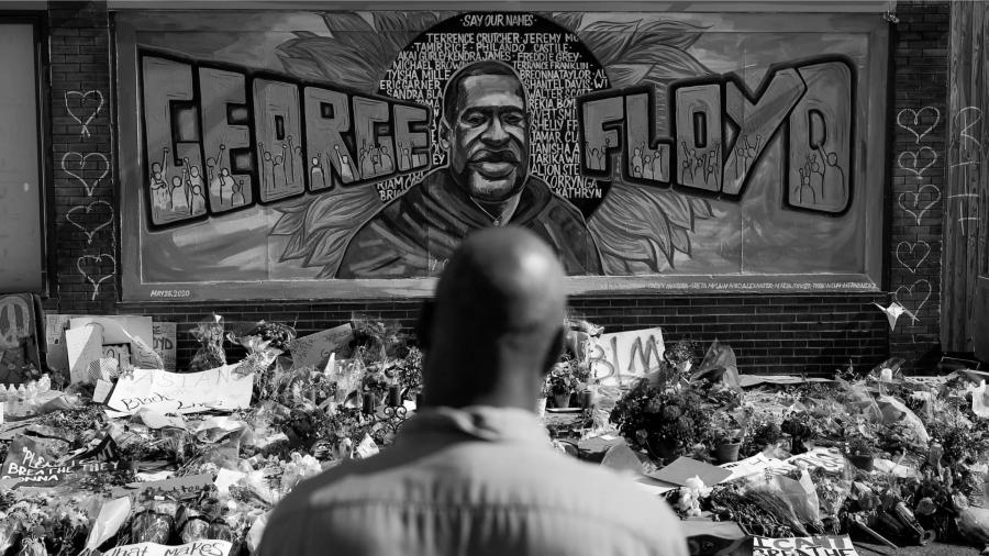 Estados Unidos George Floyd mural memoria la-tinta