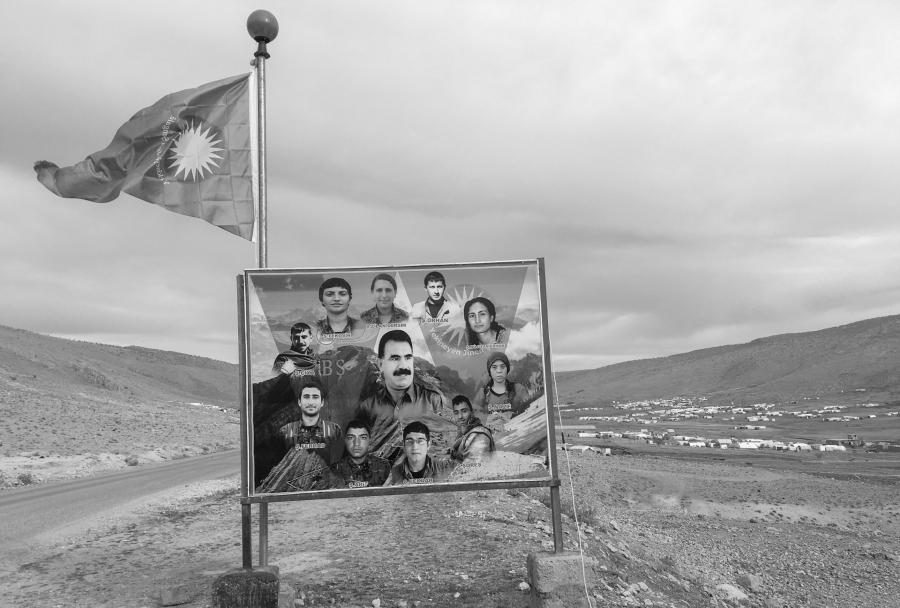 Kurdistan Monte Shengal la-tinta