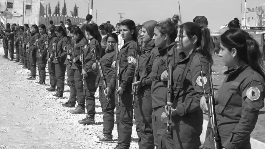 Kurdistan Rojava mujeres Assayish la-tinta