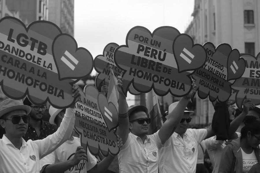 Peru LGBT marcha la-tinta