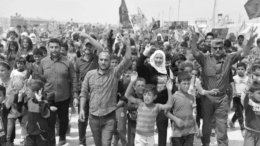 Rojava Bashur protestas la-tinta