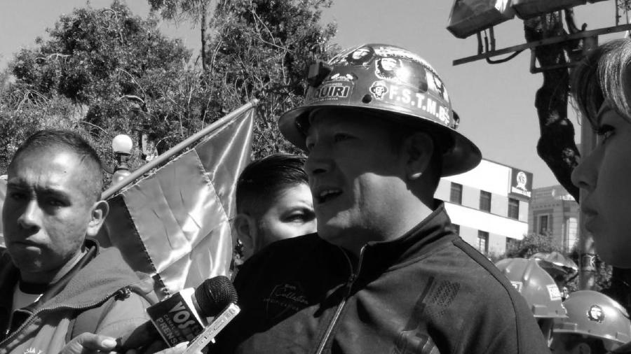 Bolivia Federación Sindical de Trabajadores Mineros Orlando Gutierrez la-tinta
