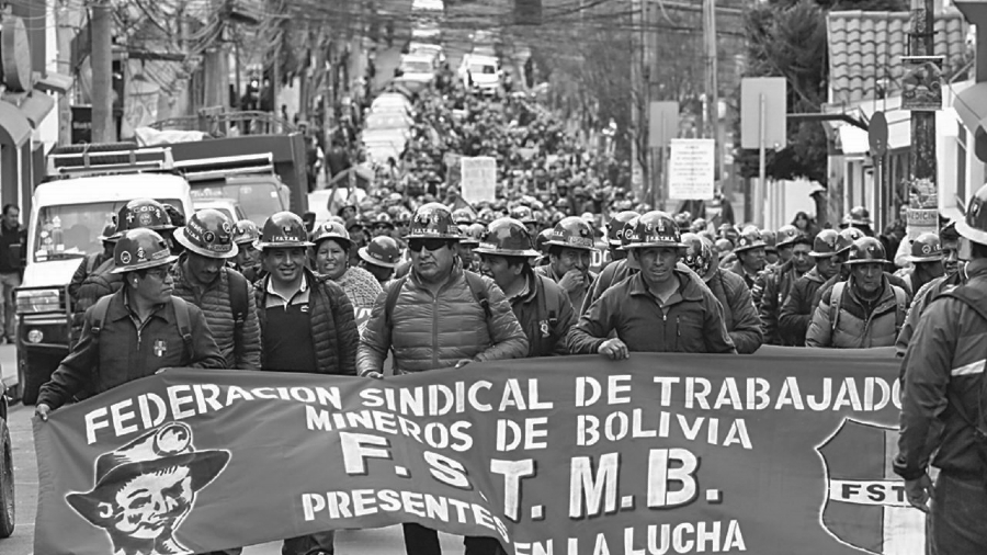 Bolivia Federación Sindical de Trabajadores Mineros la-tinta