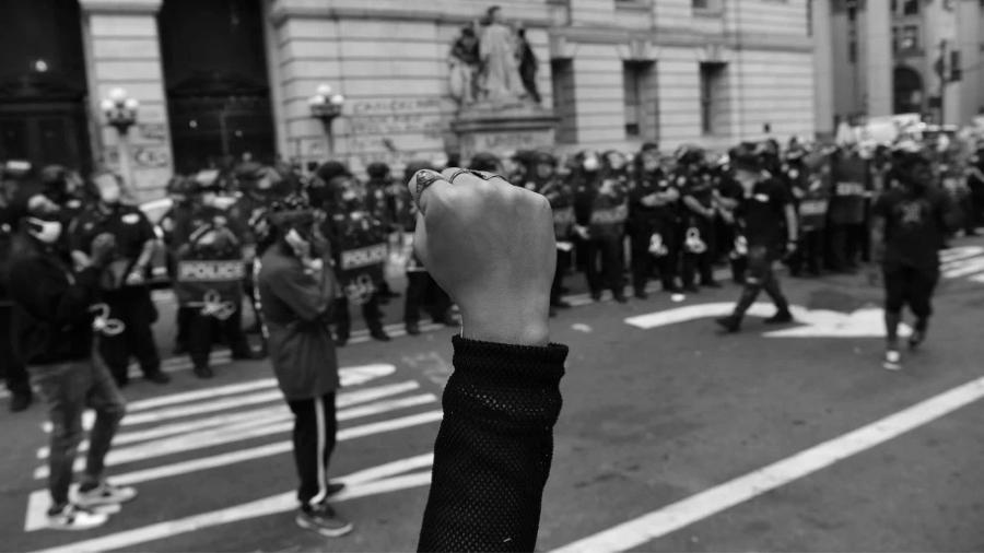 Estados Unidos City hall occupy la-tinta