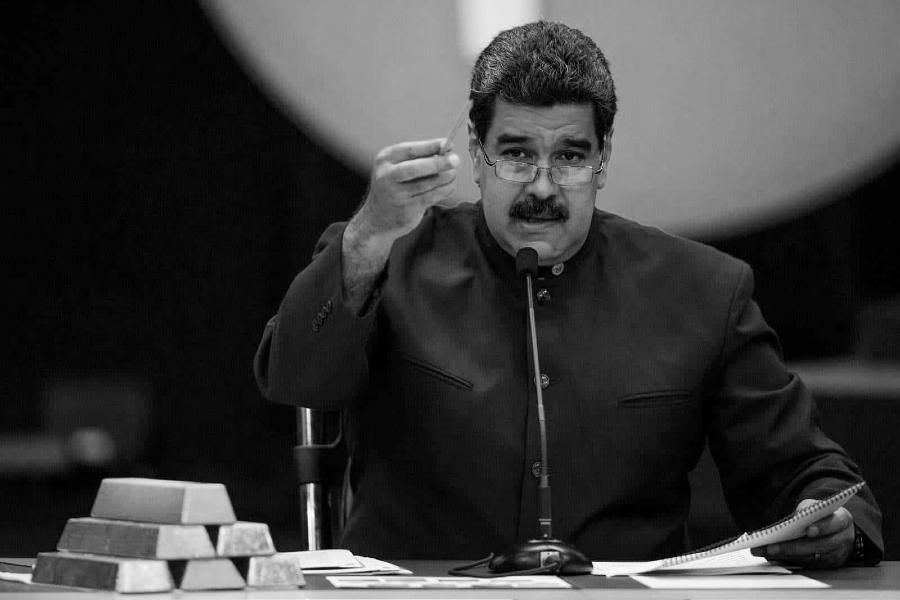 Venezuela Nicolas Maduro oro la-tinta