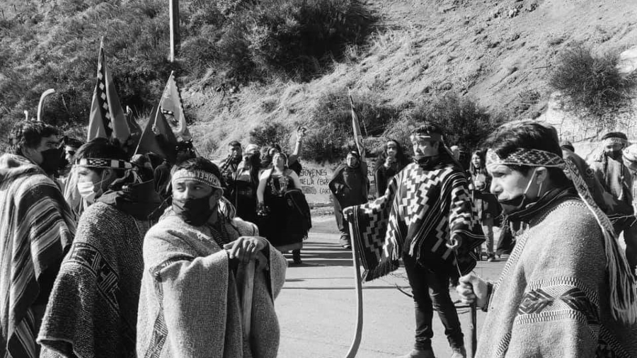 Chile protesta mapuche radio kvrruf la-tinta