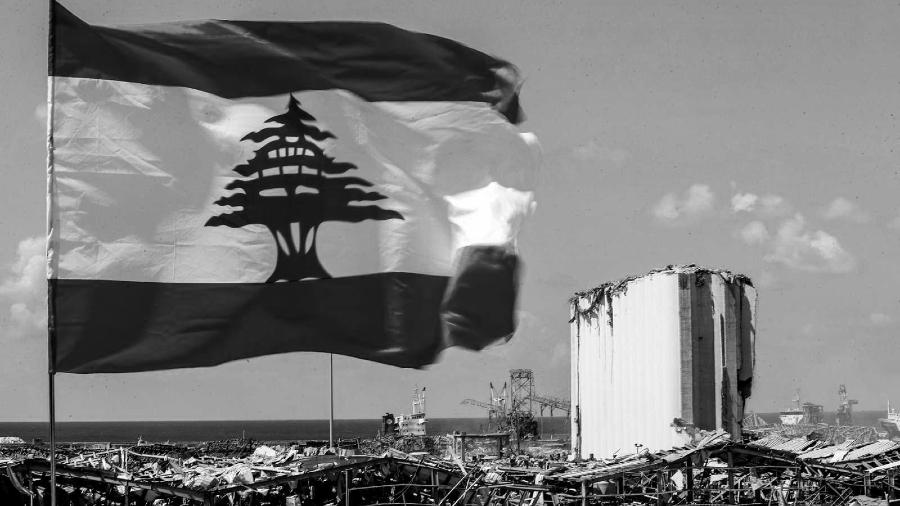 Libano bandera Beirut explosion la-tinta