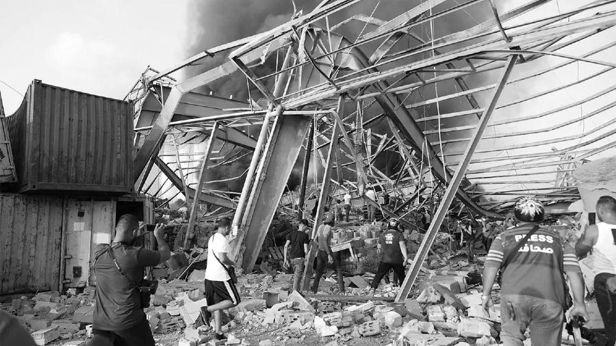 Libano edificios destruidos Beirut la-tinta