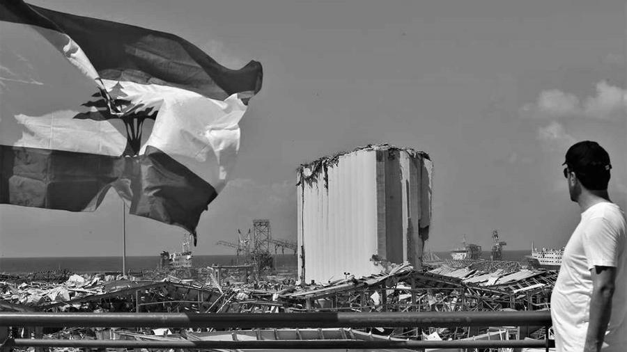 Libano explosion bandera Beirut la-tinta