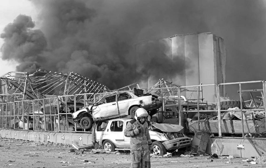 Libano explosion ruinas