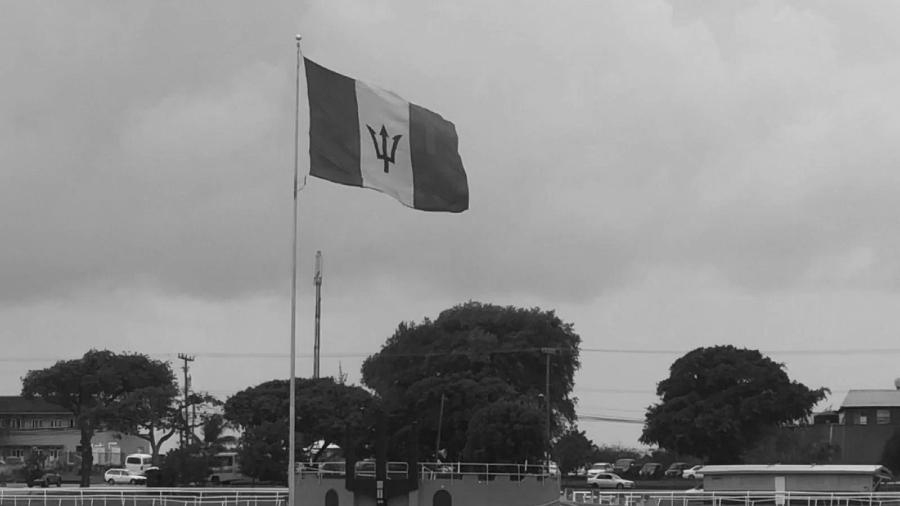 Barbados bandera la-tinta