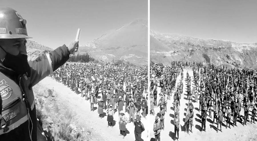 Bolivia mineros bloqueos elecciones la-tinta