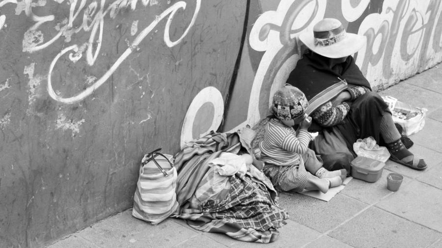 Bolivia pobreza La Paz la-tinta