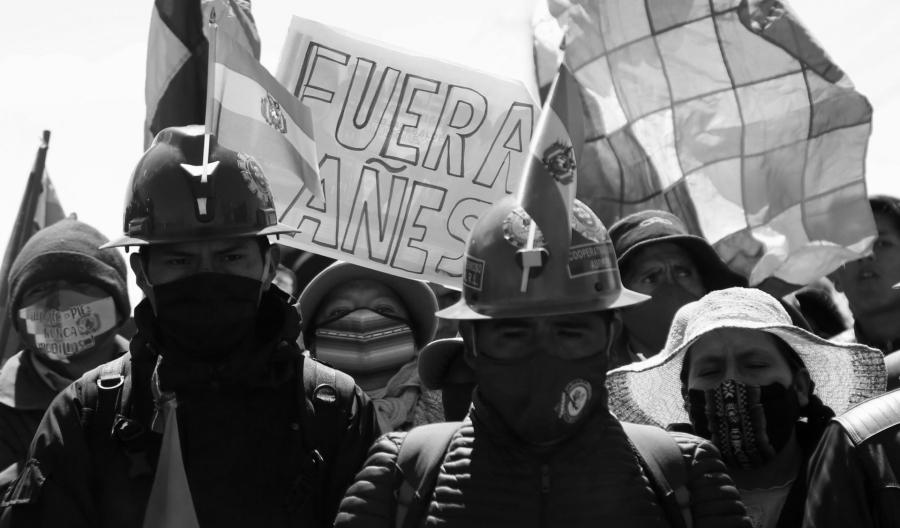 Bolivia protestas contra Añez la-tinta